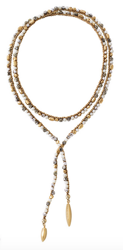 Zoe Lariat Necklace in Gold - $98