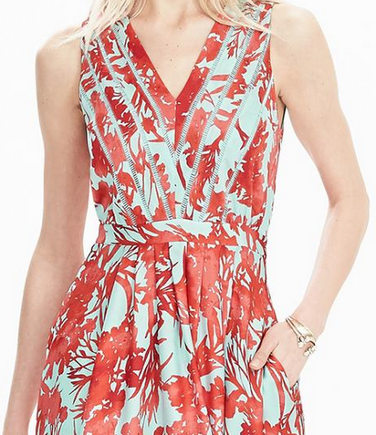Banana Republic Floral Vee Dress