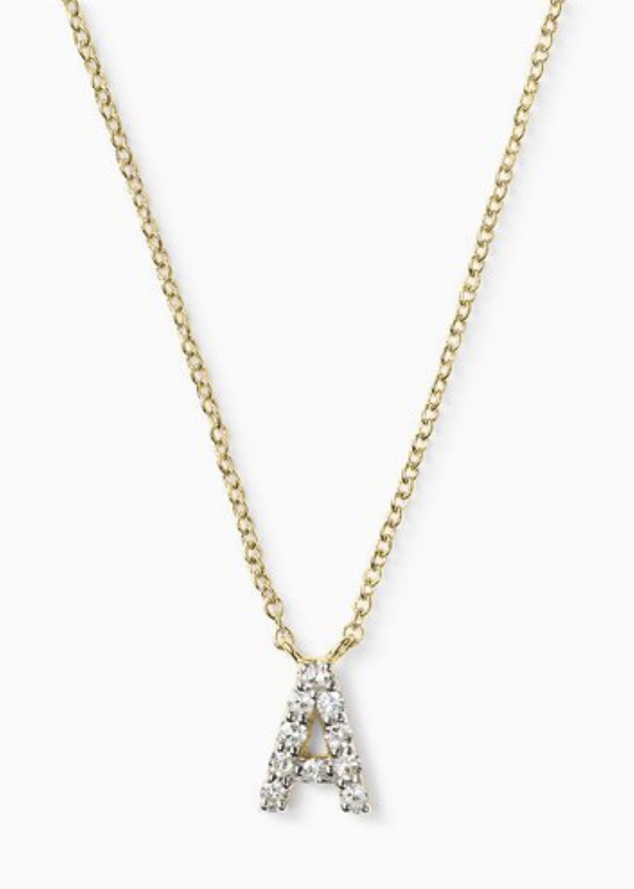 Stella & Dot Covet Letter Necklace