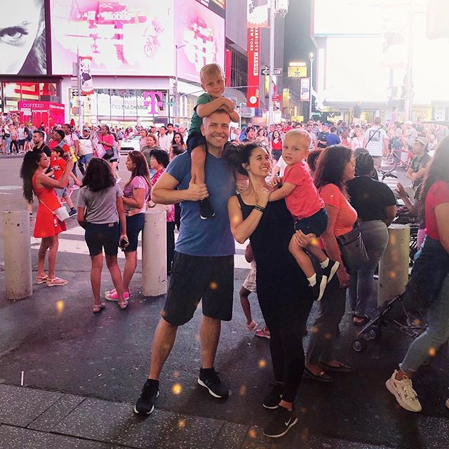 "✨Visiting ""townsquare"", as Everett calls it. I haven't had the heart to correct him yet 😂 . 🗽Our family summer trip to NYC is up on my blog today (link in bio) and we have an IGTV recap, too! . I don't have the fanciest of photography/video gear, but I have really loved capturing our travel moments as a family. They feel like a mini time capsule, and when I look back on these posts/videos and hear the way my boys speak, watch them move and their amazing giggles, it just makes me feel so alive and in the moment! These are some of my favorite memories from this summer for sure. . 💖 Did you travel somewhere this summer that's embedded in your heart for good? I would love to hear about it!"
