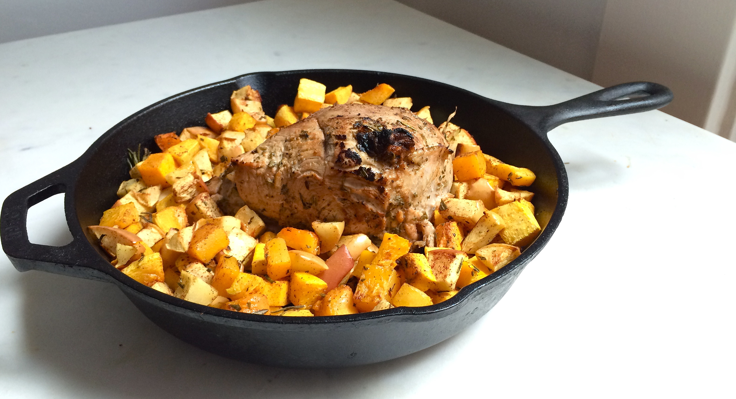 Rosemary Pork Roast with Squash and Apples | My Engineered Nutrition