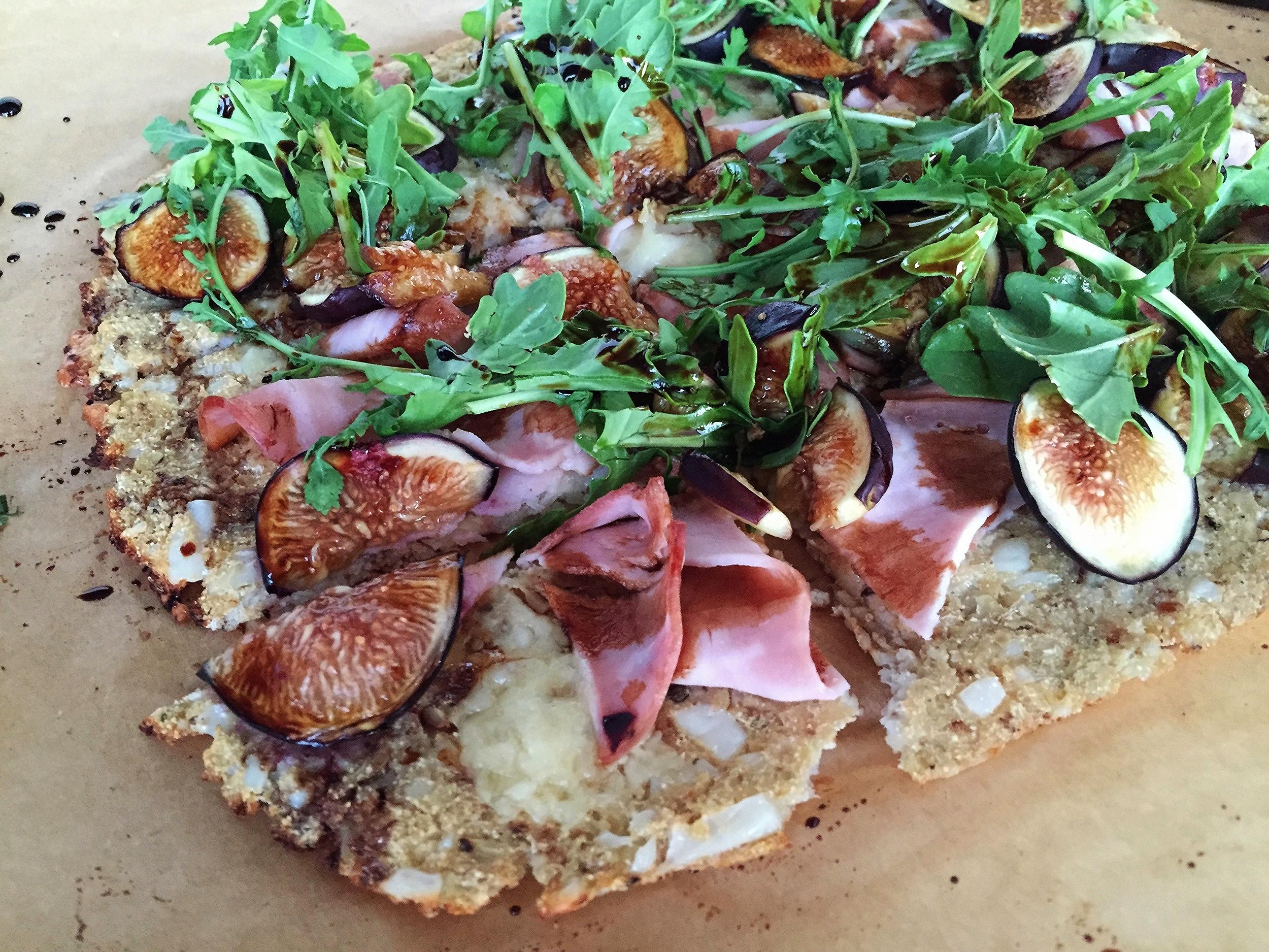 Fig, Ham and Arugula Flatbread | My Engineered Nutrition