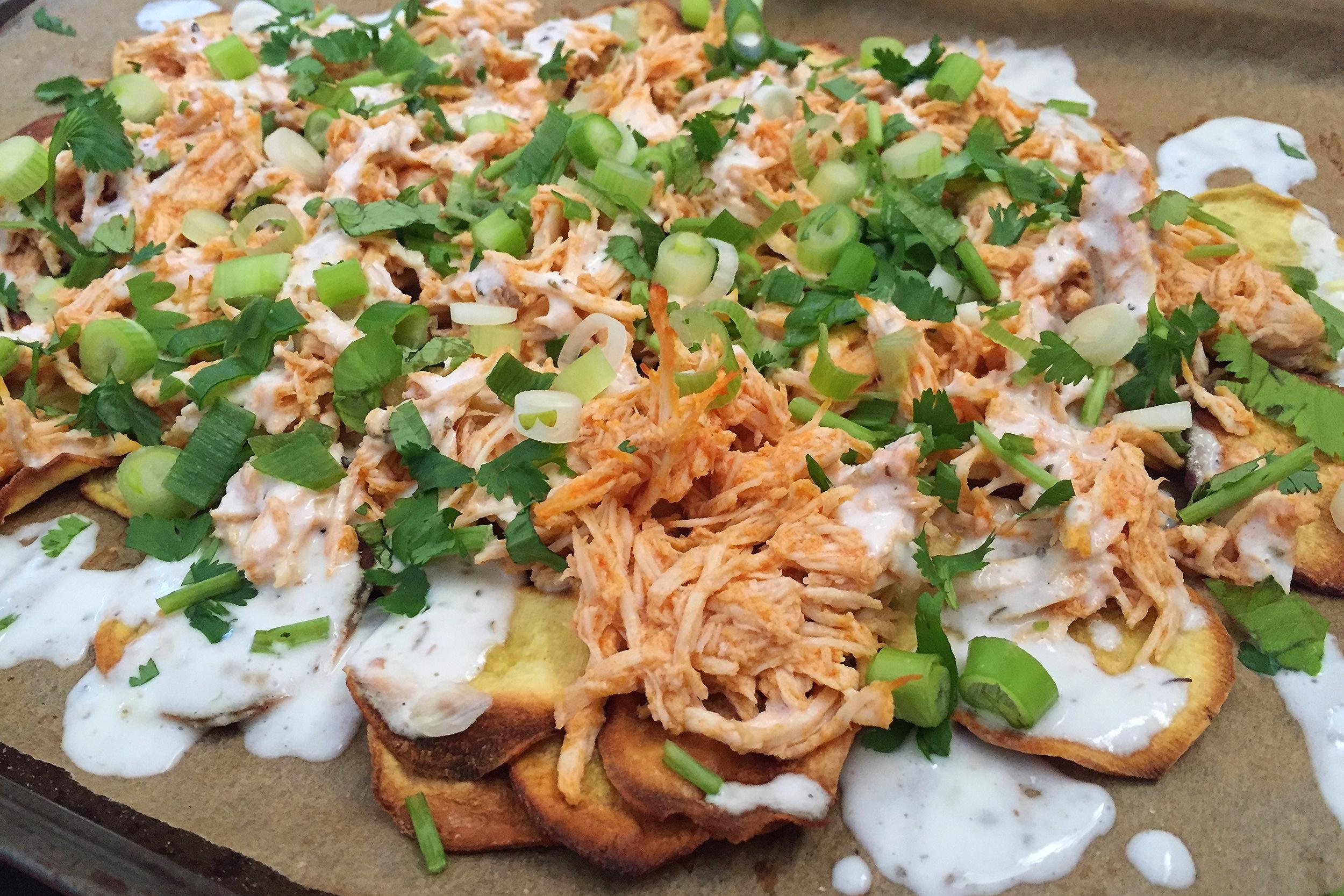 Buffalo Chicken Nachos | My Engineered Nutrition