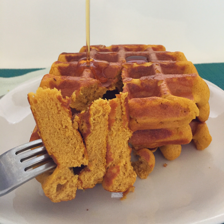 Pumpkin Protein Waffles | My Engineered Nutrition