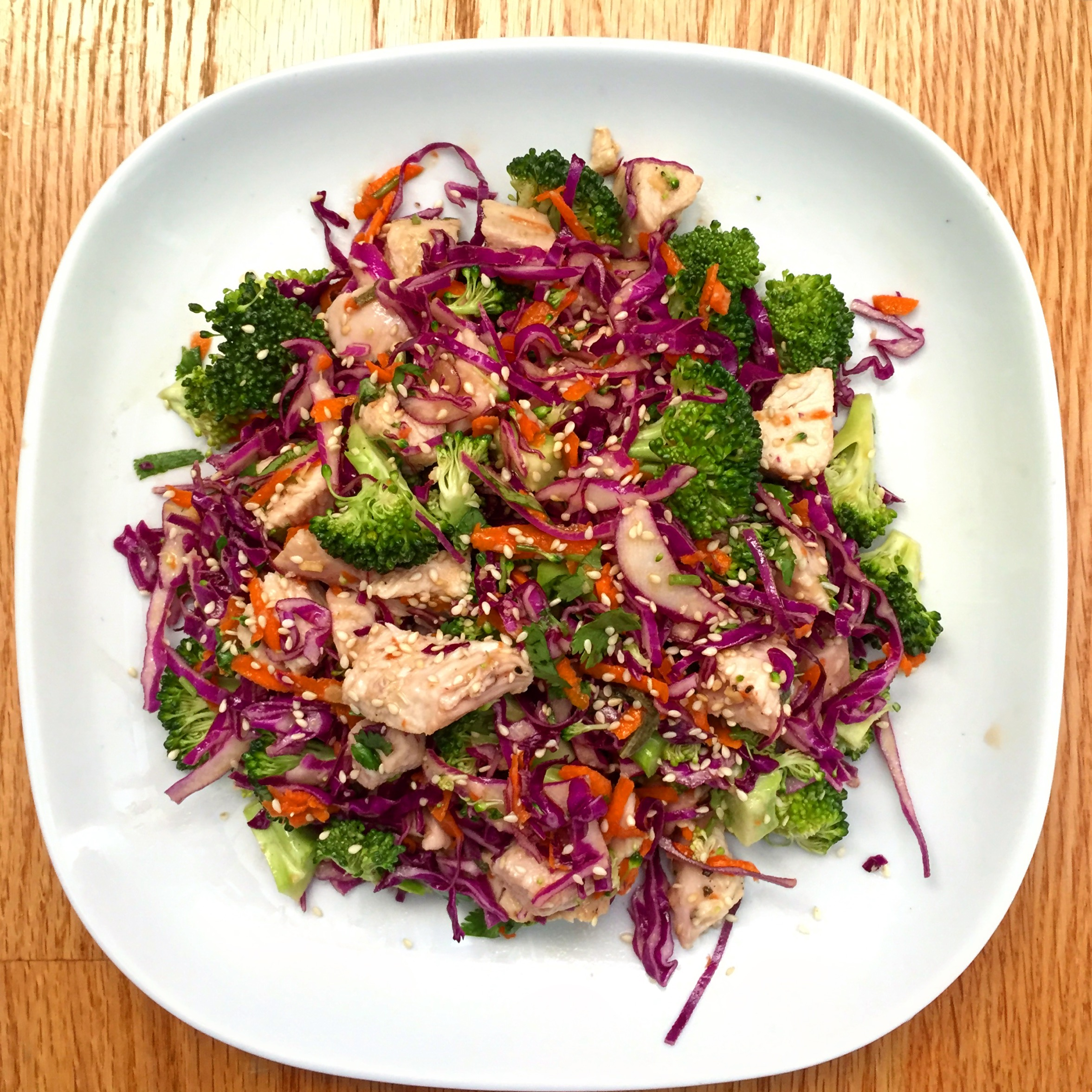 Asian Slaw with Chicken | My Engineered Nutrition