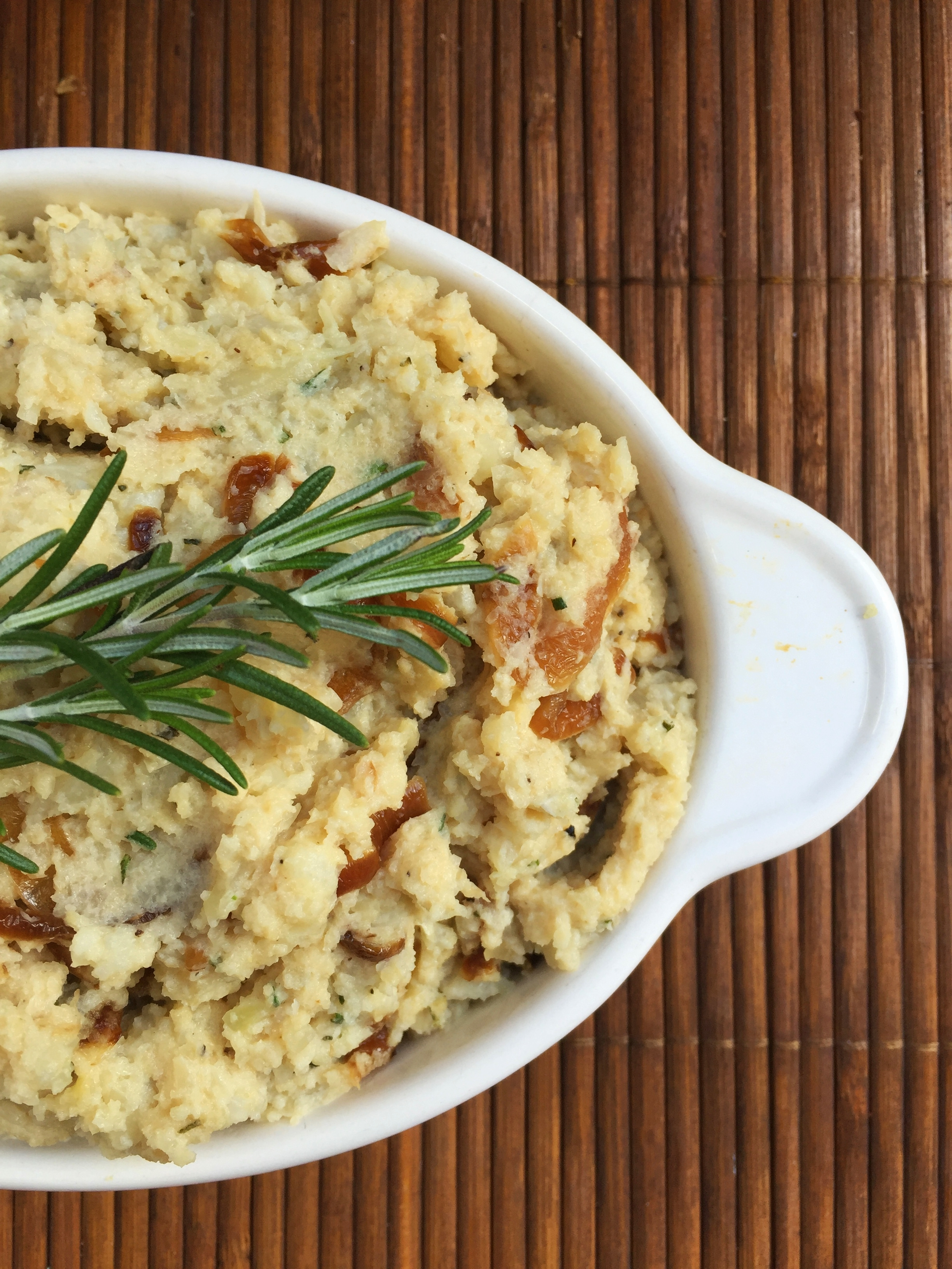 Whipped Cauliflower with Caramelized Onions | My Engineered Nutrition