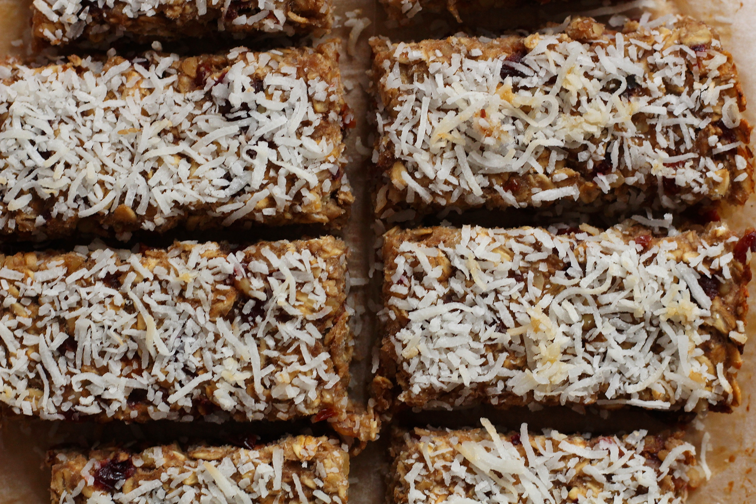 Coconut Cherry Oat Bars | My Engineered Nutrition