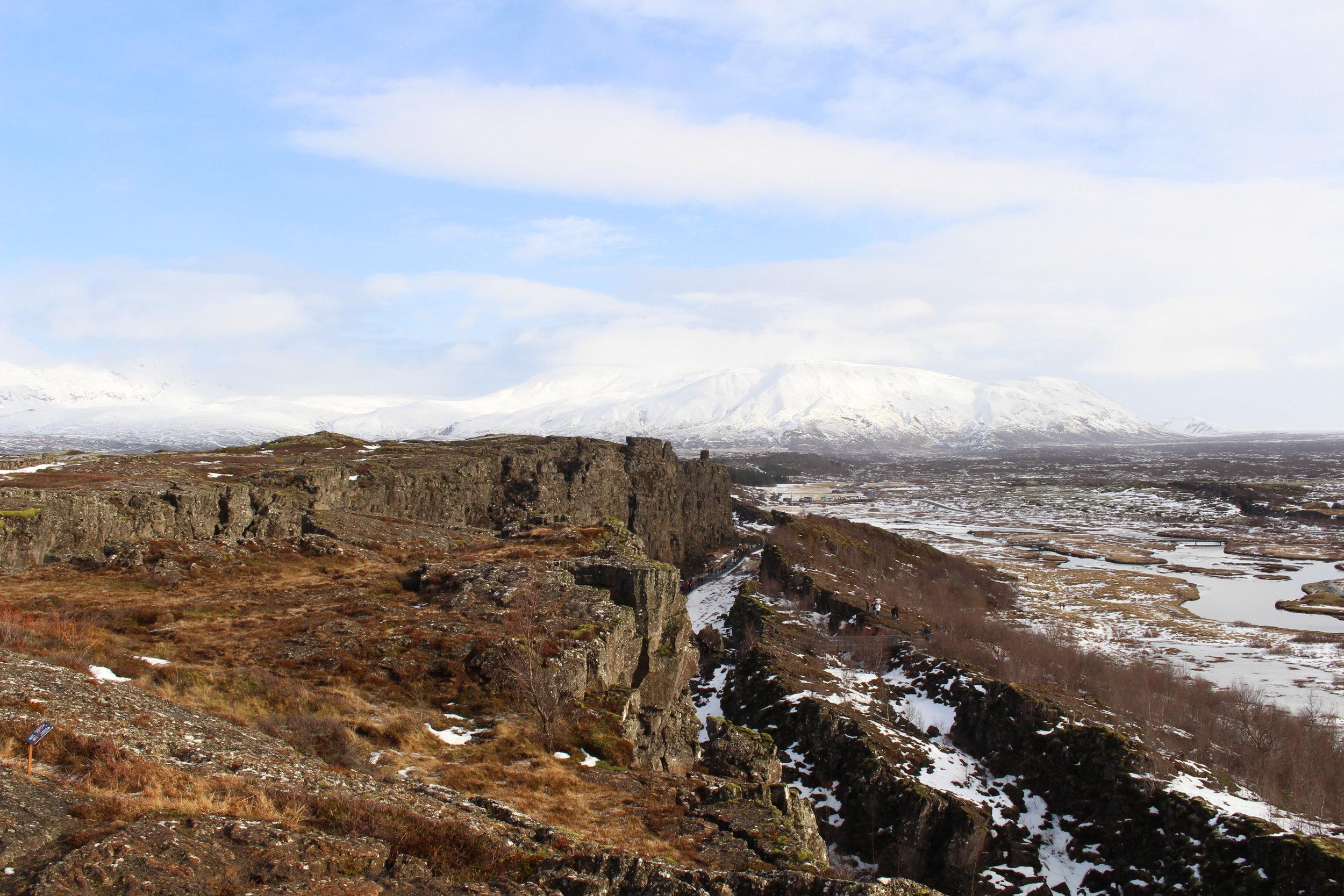 Almannagjá (canyon between two tectonic plates), þingvellir National Park