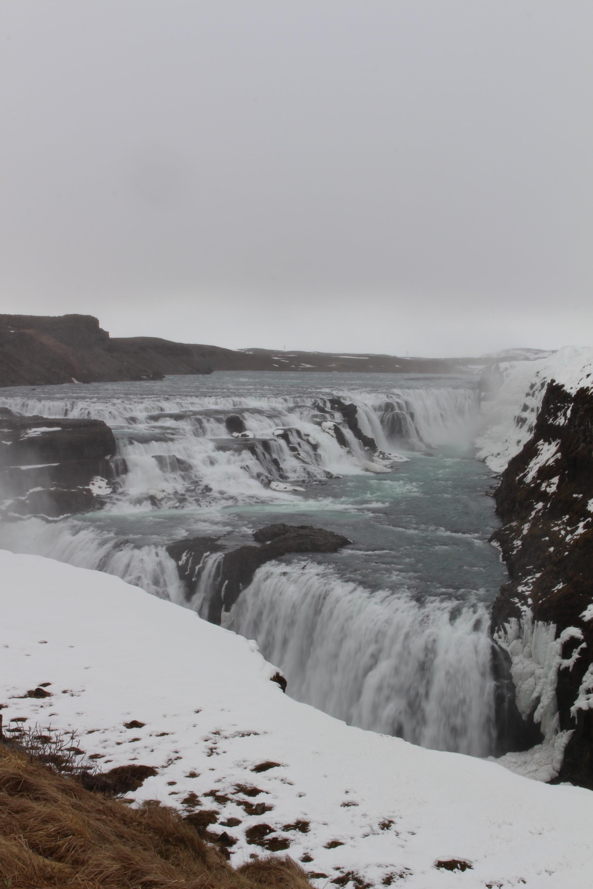 Gullfoss, waterfall at Hvitá River