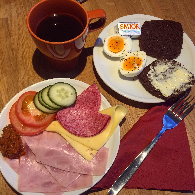 Typical B&B breakfast