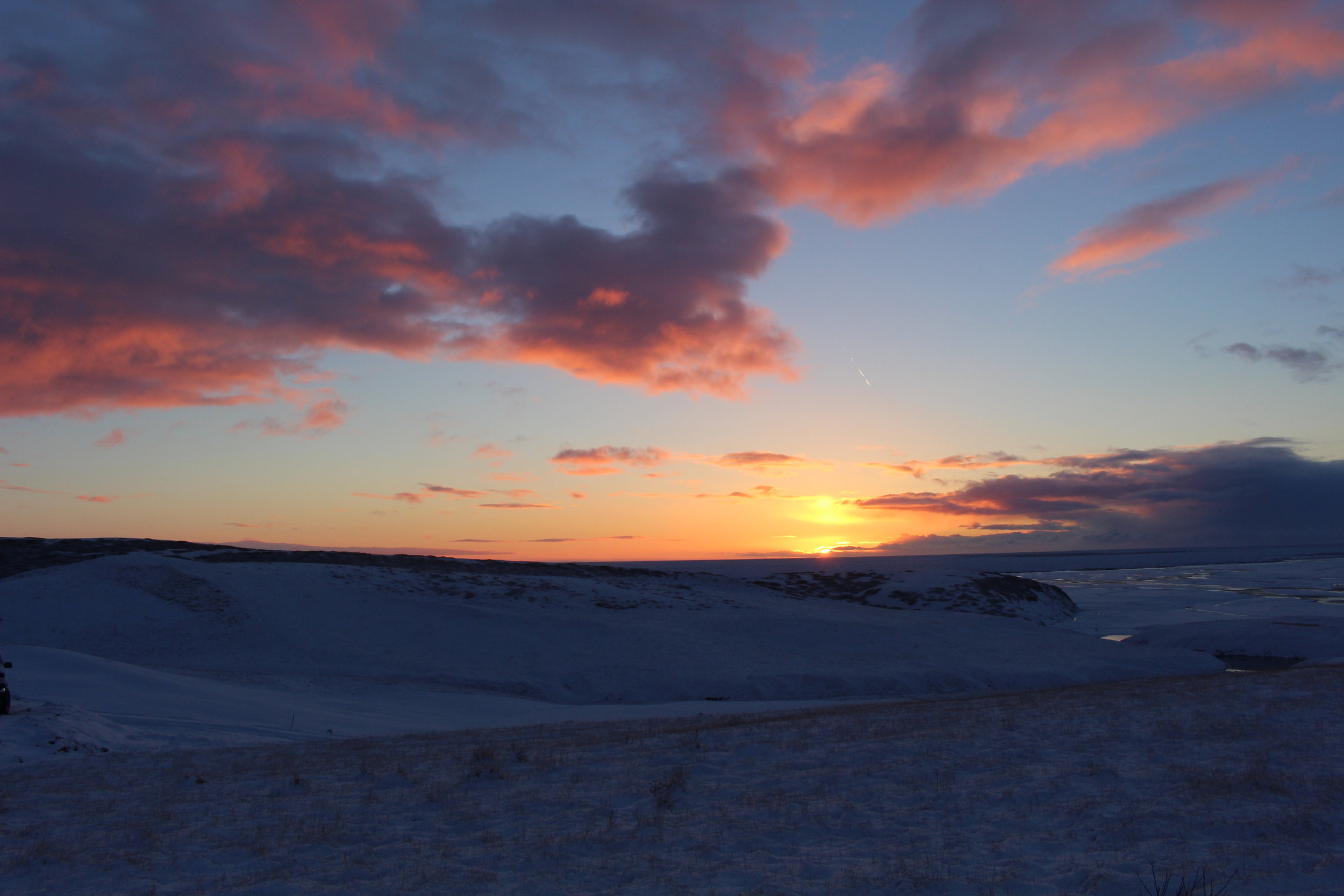 Sunrise over Hrifunes Guesthouse