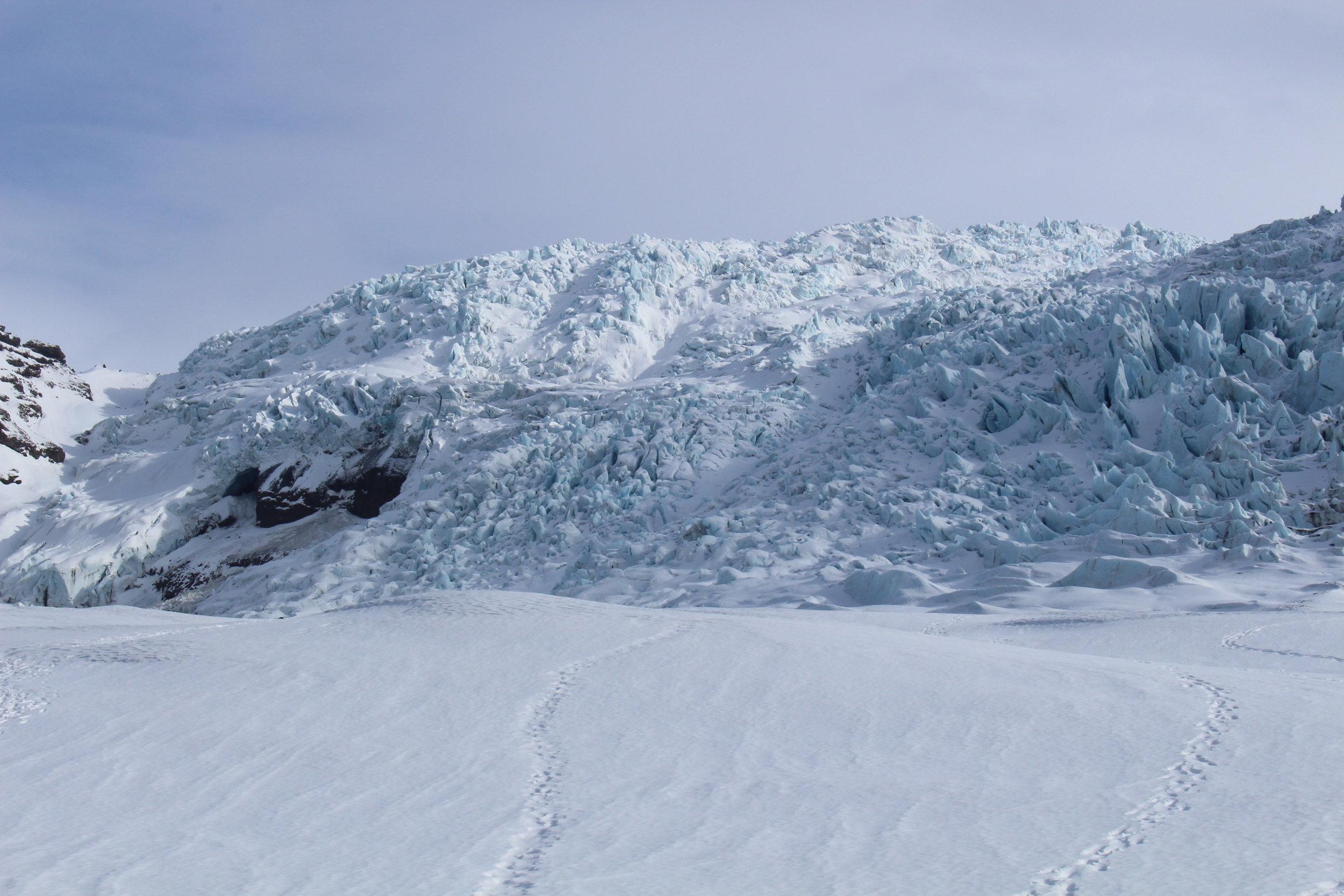 Falljökull Glacier, part of Vatnajökull icecap