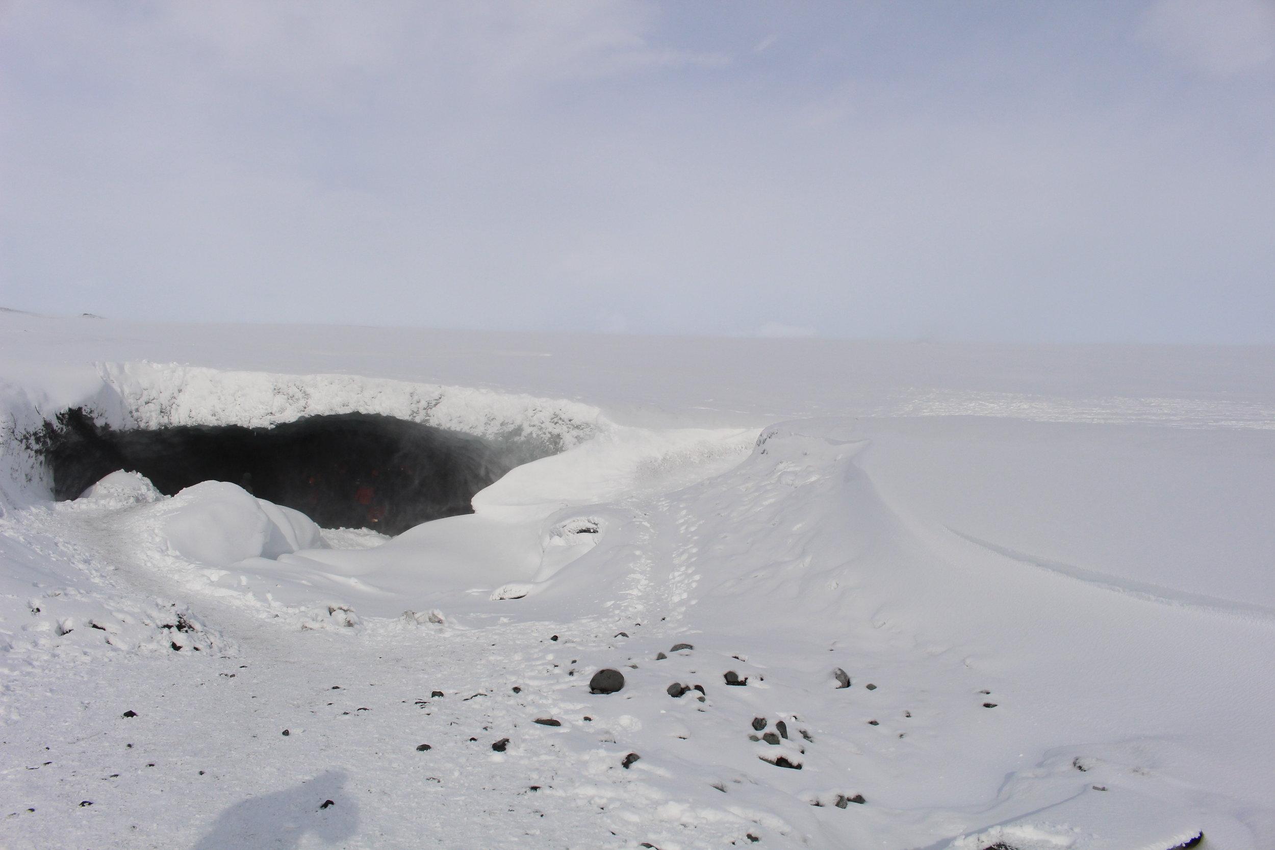 Mouth of Ice Cave, Breiðarmerkurjökull