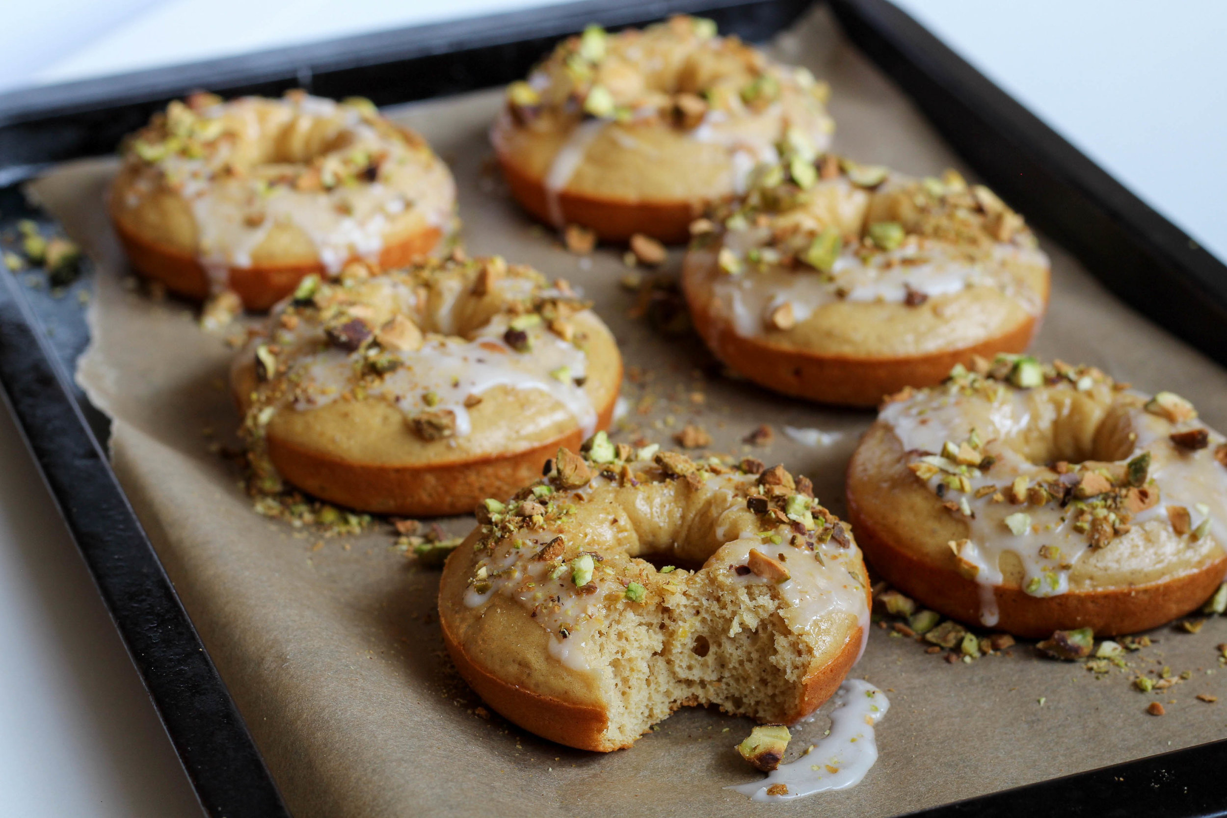 Lemon Pistachio Donuts | My Engineered Nutrition