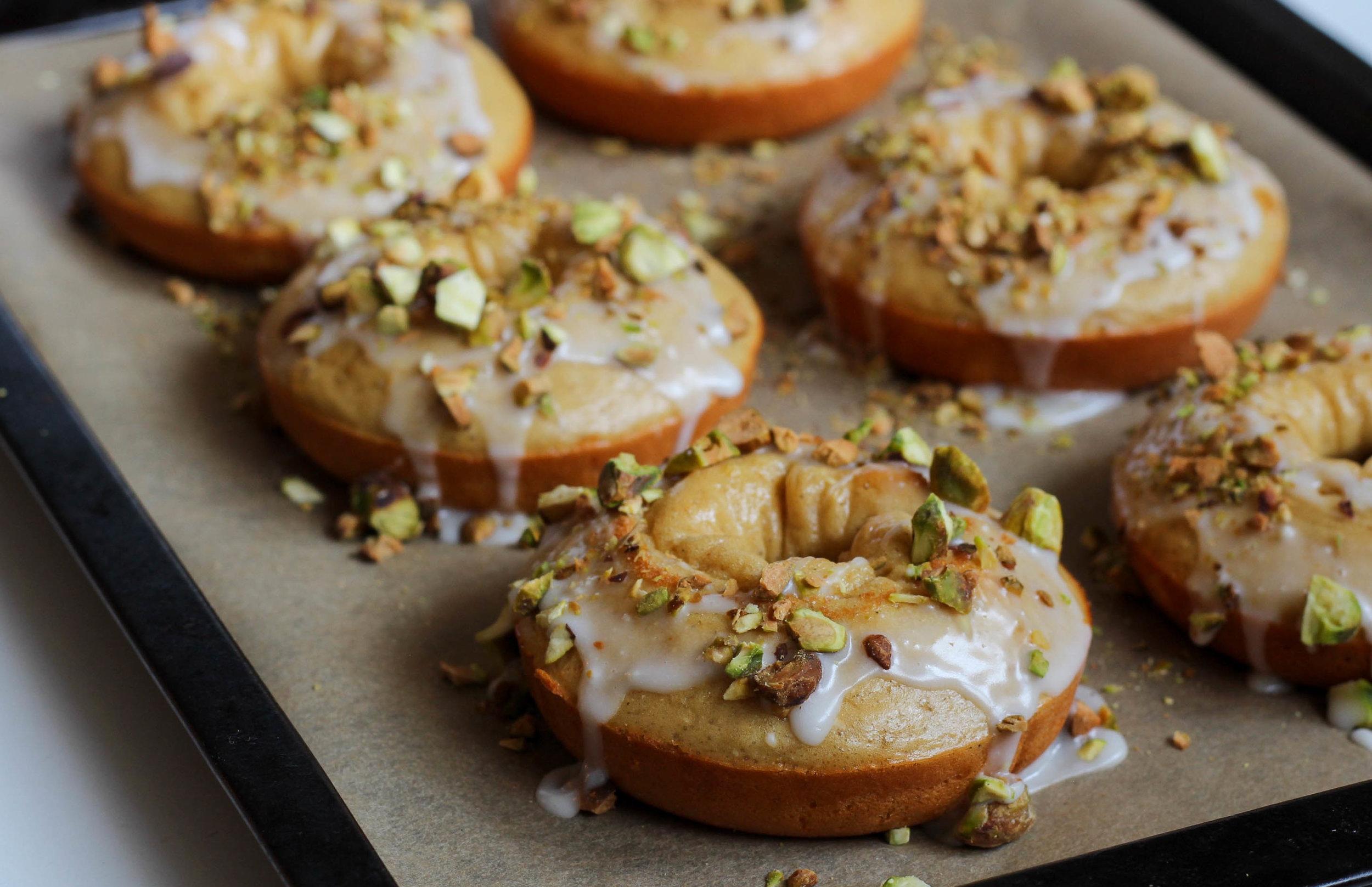 Lemon Pistachio Protein Donuts | My Engineered Nutrition