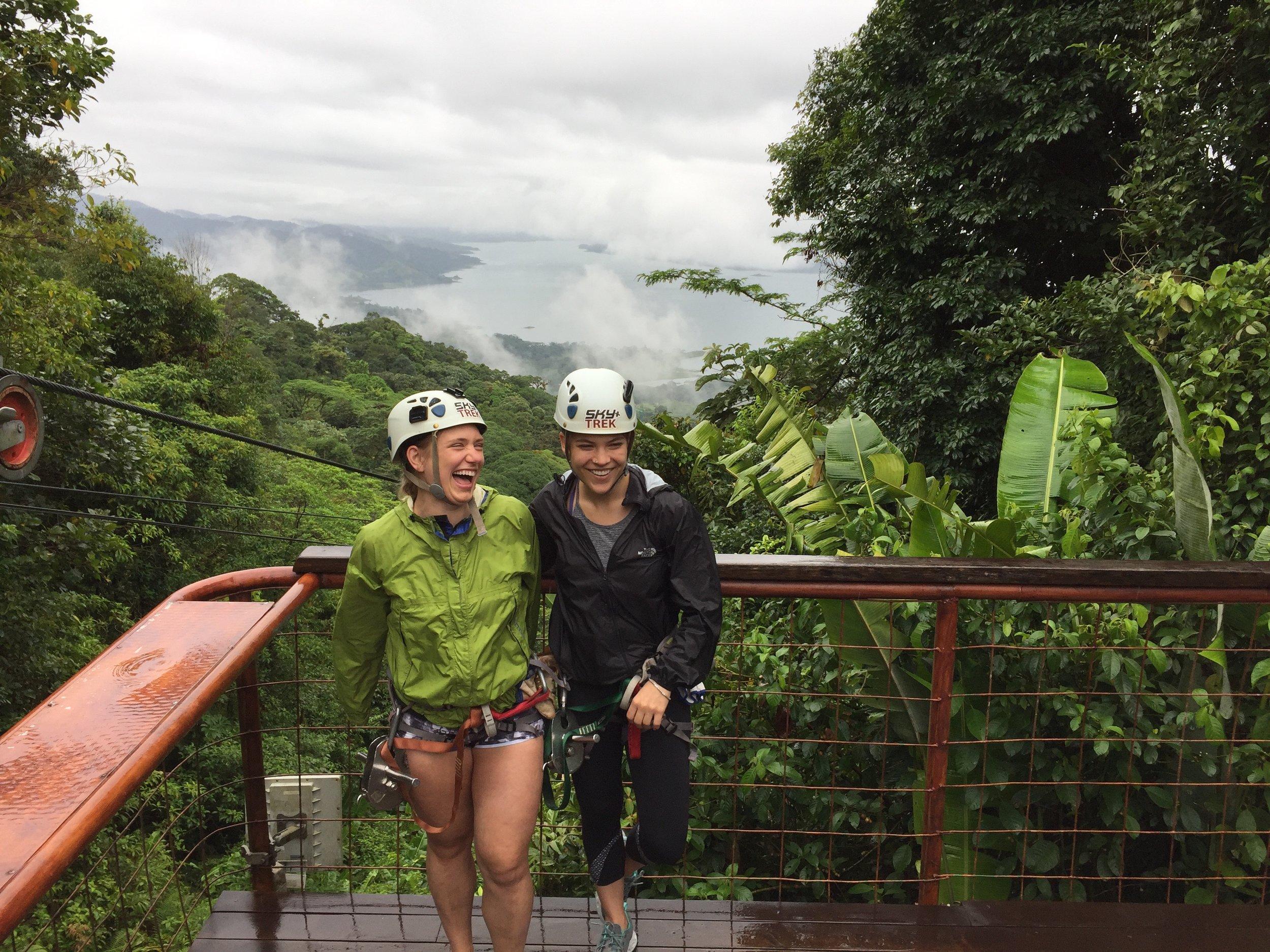 Ziplining at Arenal National Park
