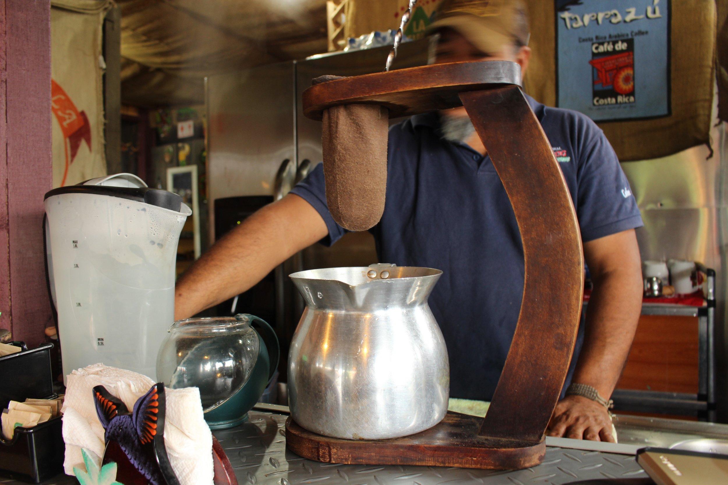 Roy making the BEST café!