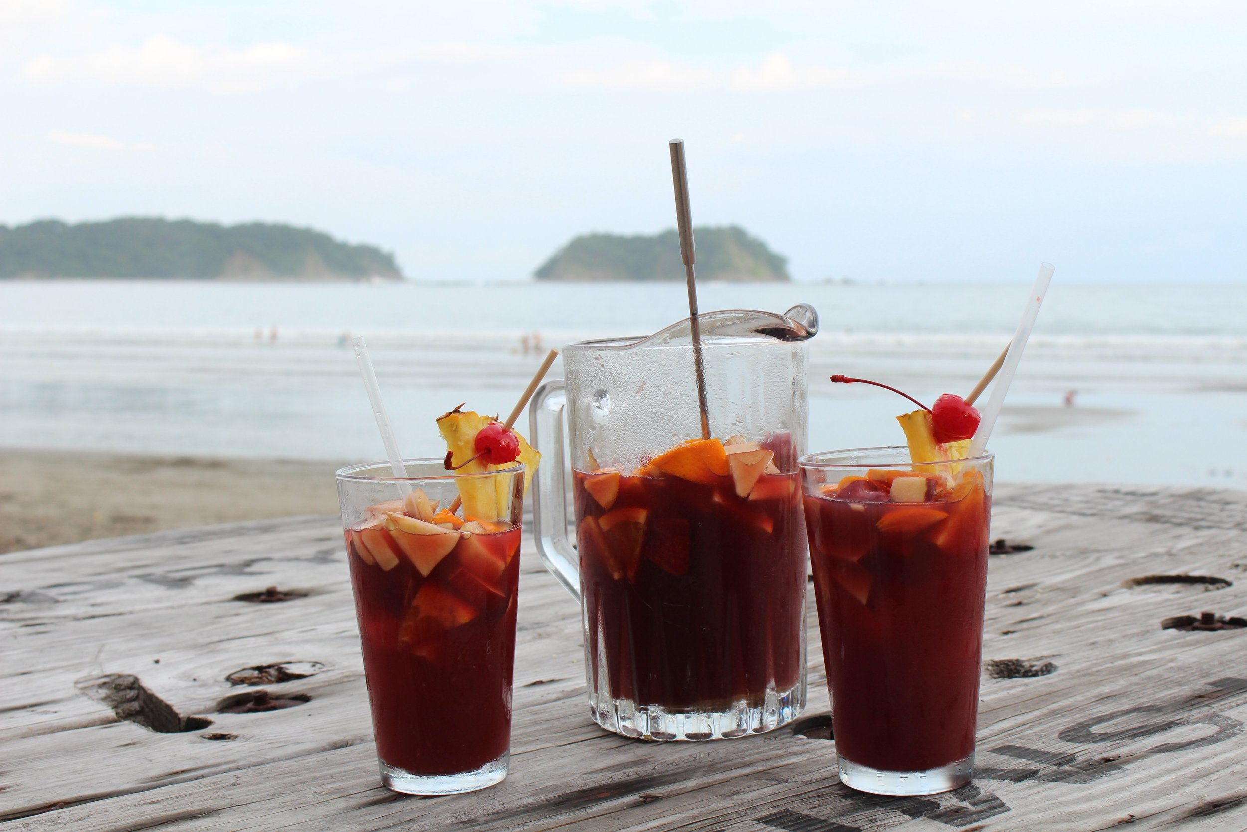 Sangria during Happy Hour at Gusto Beach