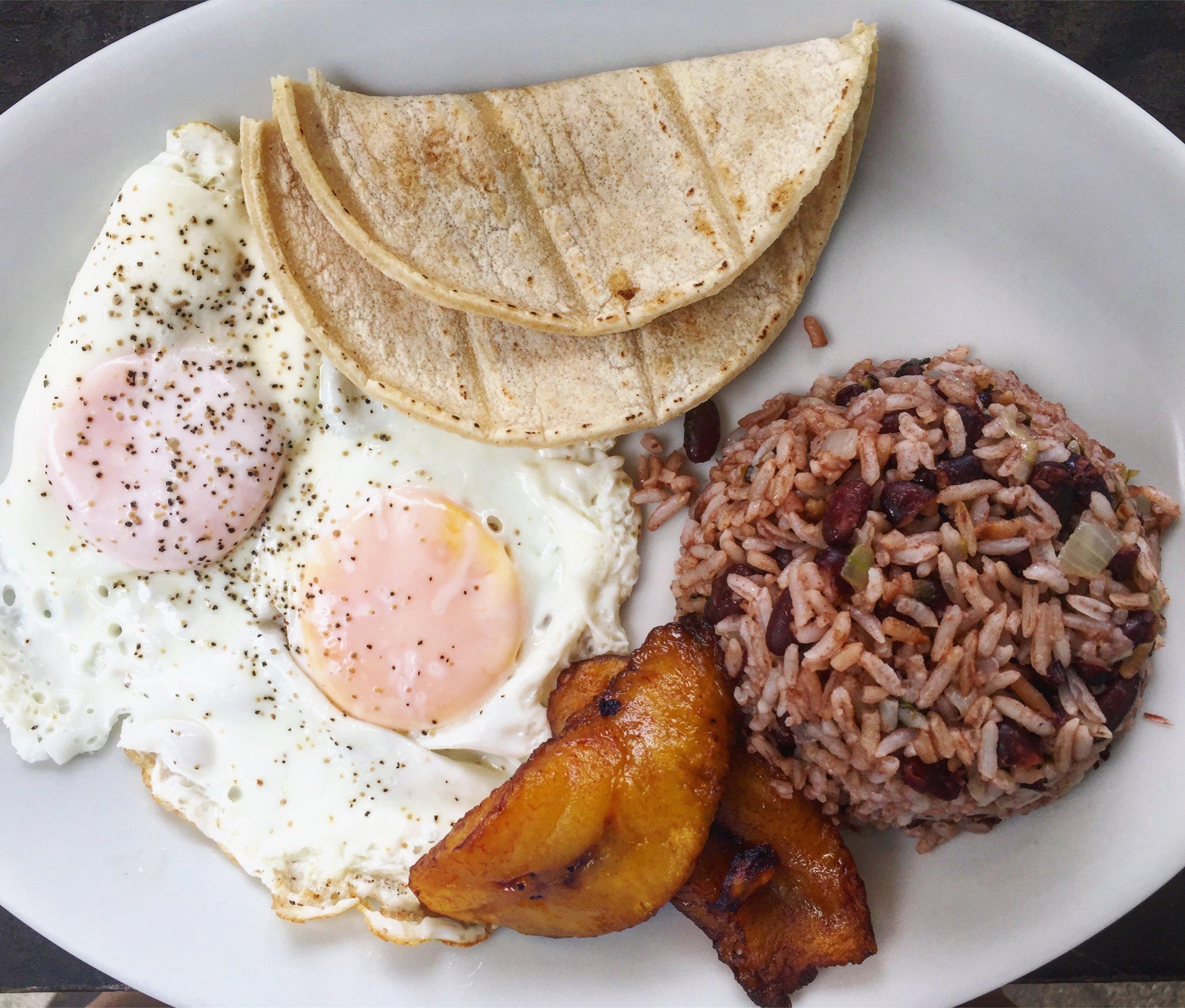 Desayuno Típico (Typical Costa Rican Breakfast)