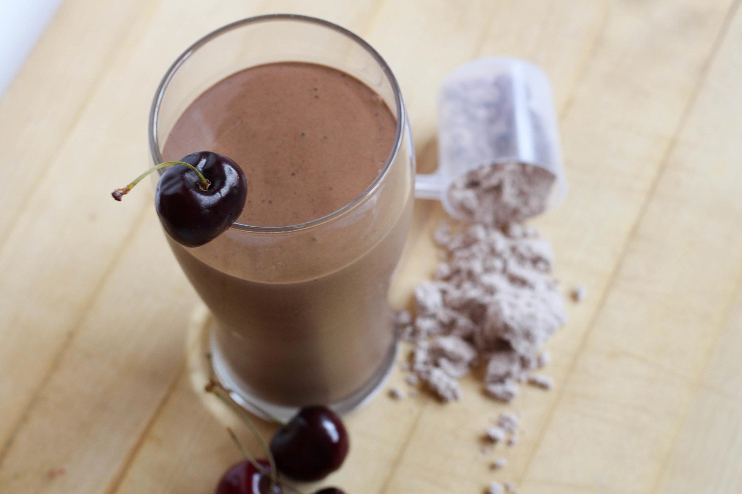 Chocolate Cherry Protein Shake   My Engineered Nutrition