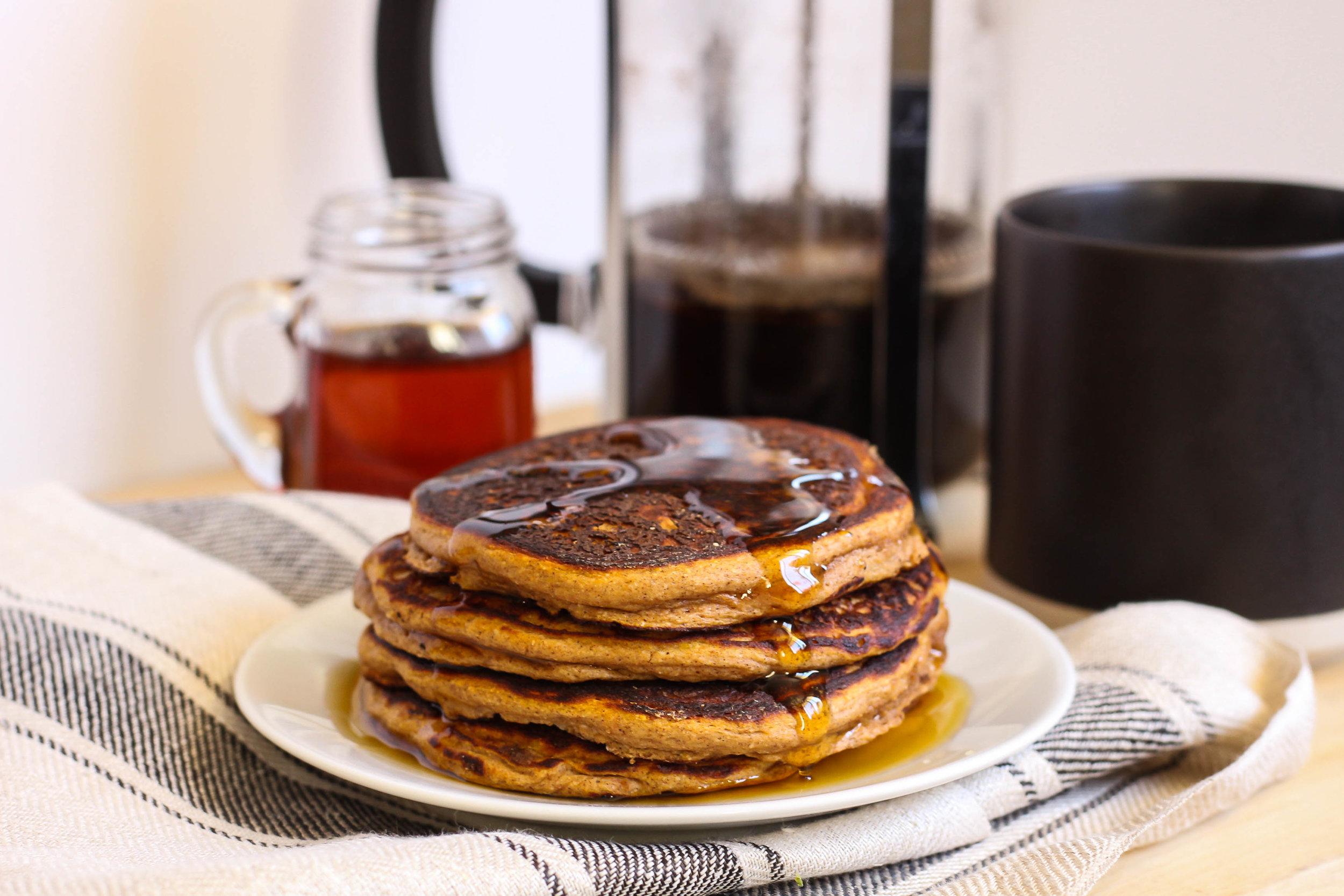 Pumpkin Protein Pancakes | My Engineered Nutrition