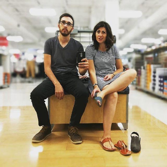Memories: Shoe shopping in Texas. #thesearen'tgoingtowork
