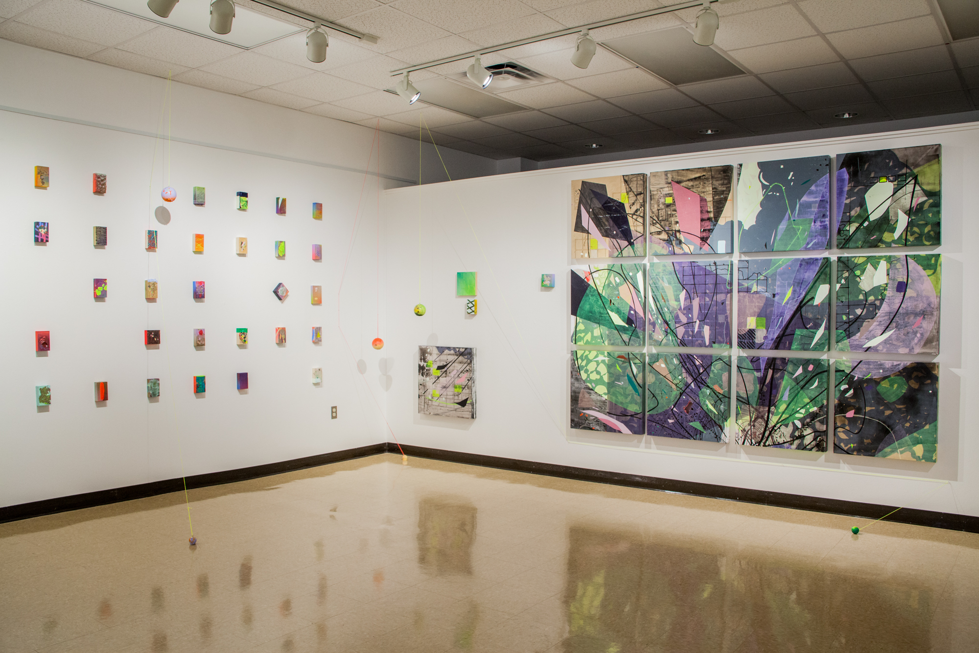 Installation shot- Diagraming an Echo (Angelo State University Gallery), San Angelo, TX