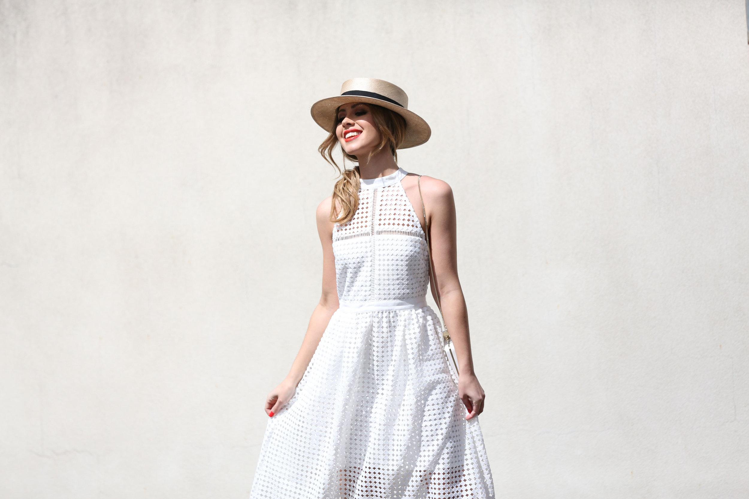 BLAIR WHITE LACE DRESS ON WWW.FRIENDINFASHION.COM.AU