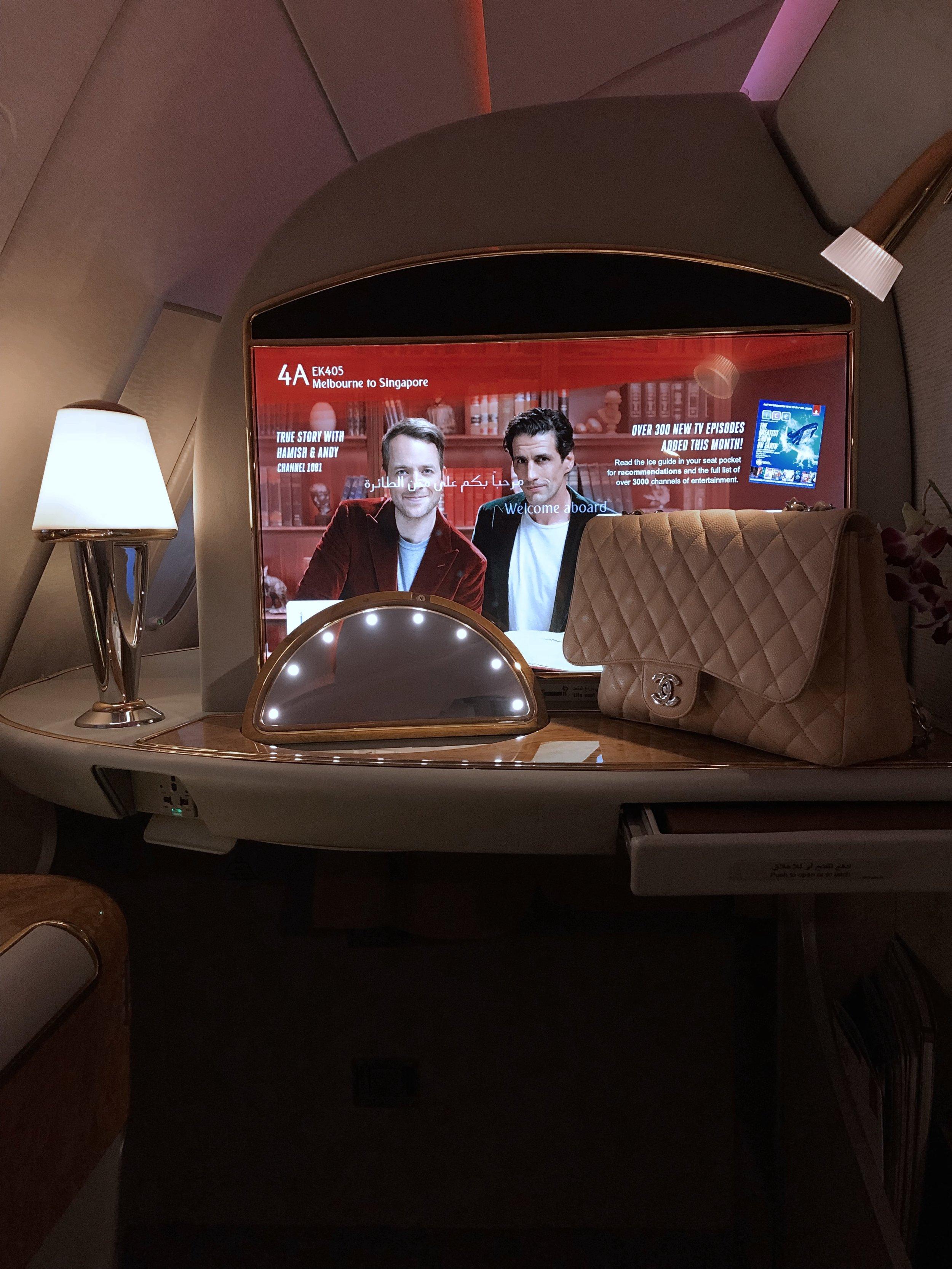Emirates First Class on www.friendinfashion.com.au