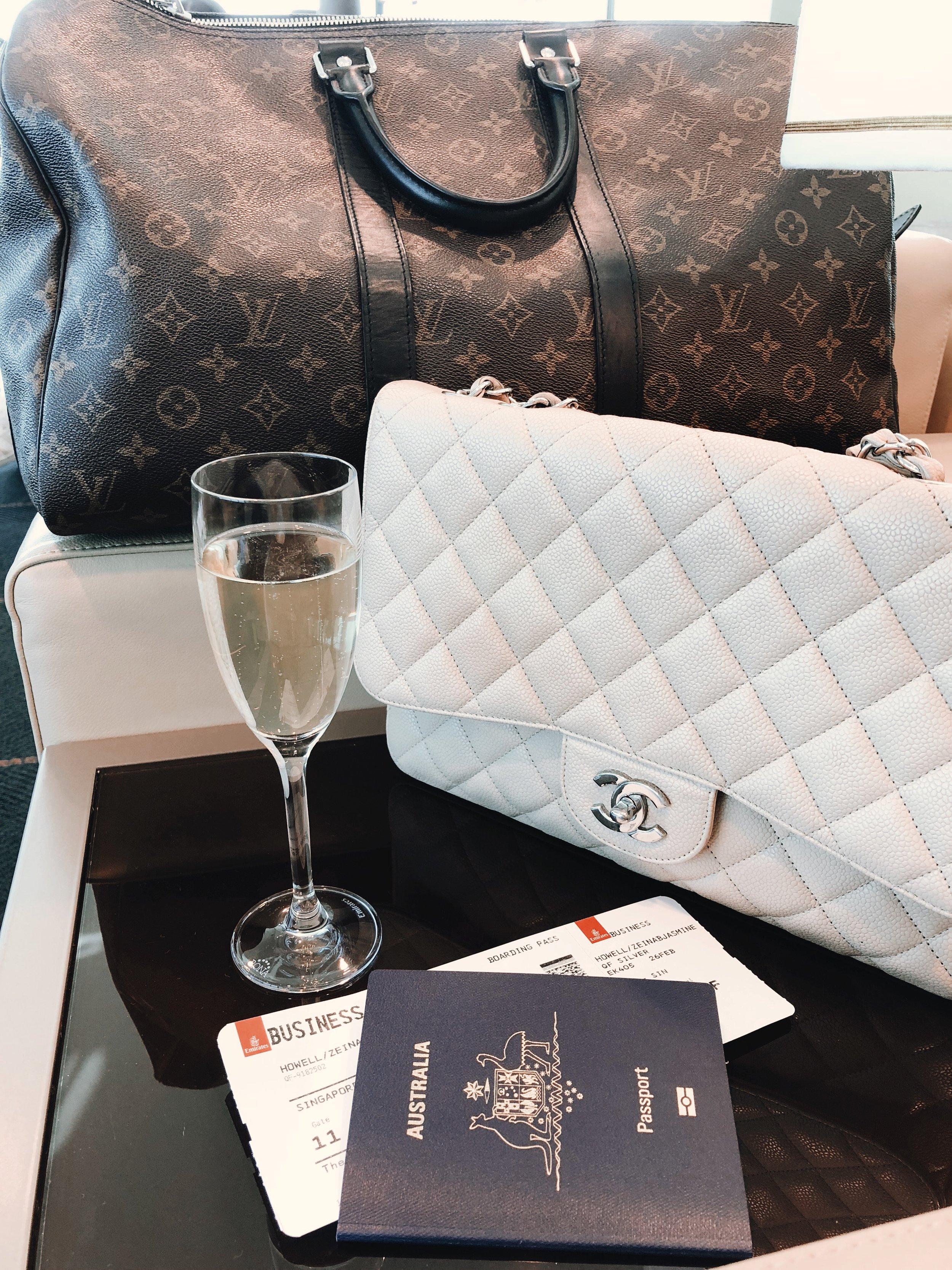 Emirates Business Lounge on www.friendinfashion.com.au