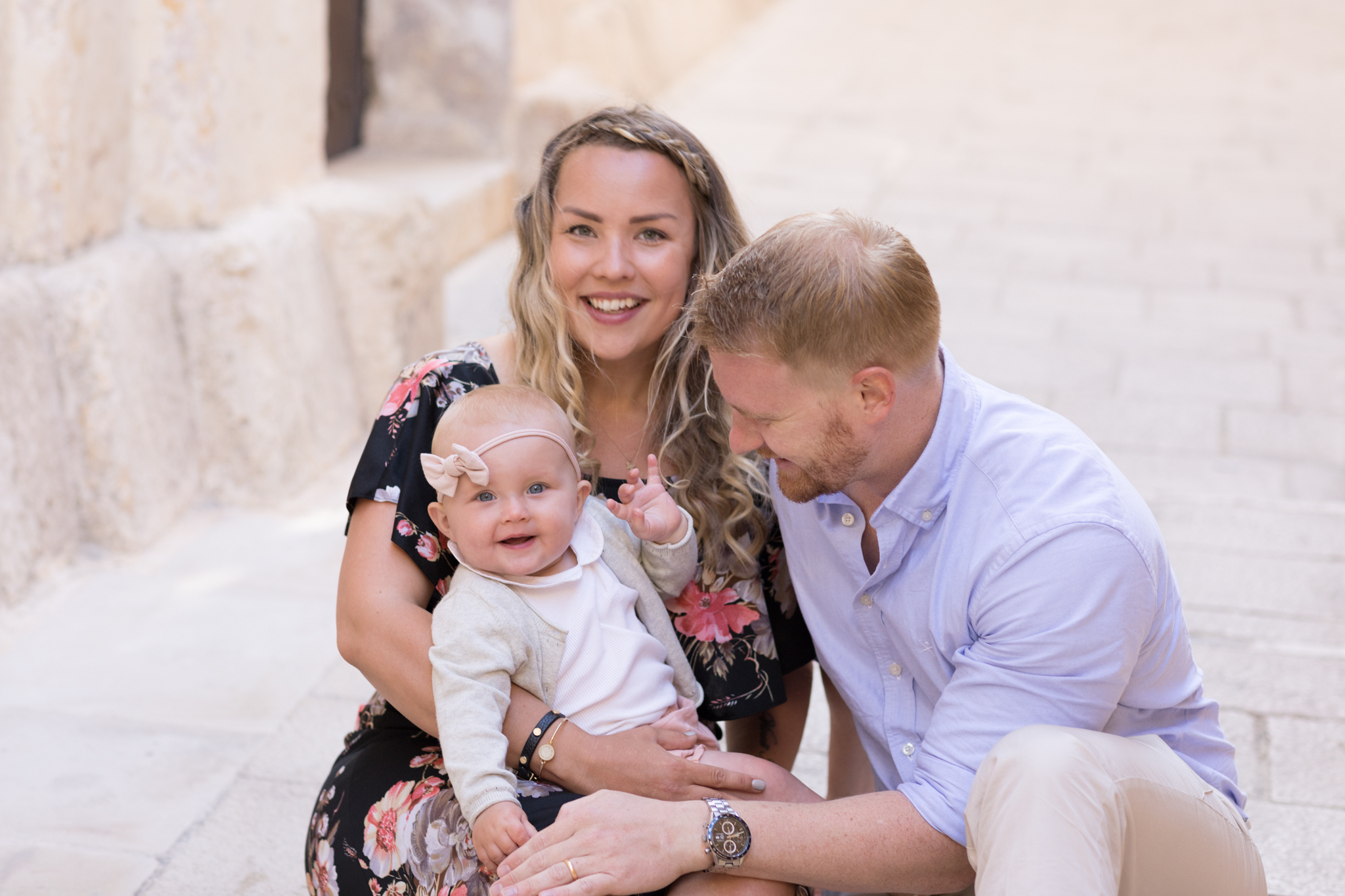sunrise in mdina, historic location for a photo shoot, family photography malta,Family photo shoot Malta, whimsical, organic