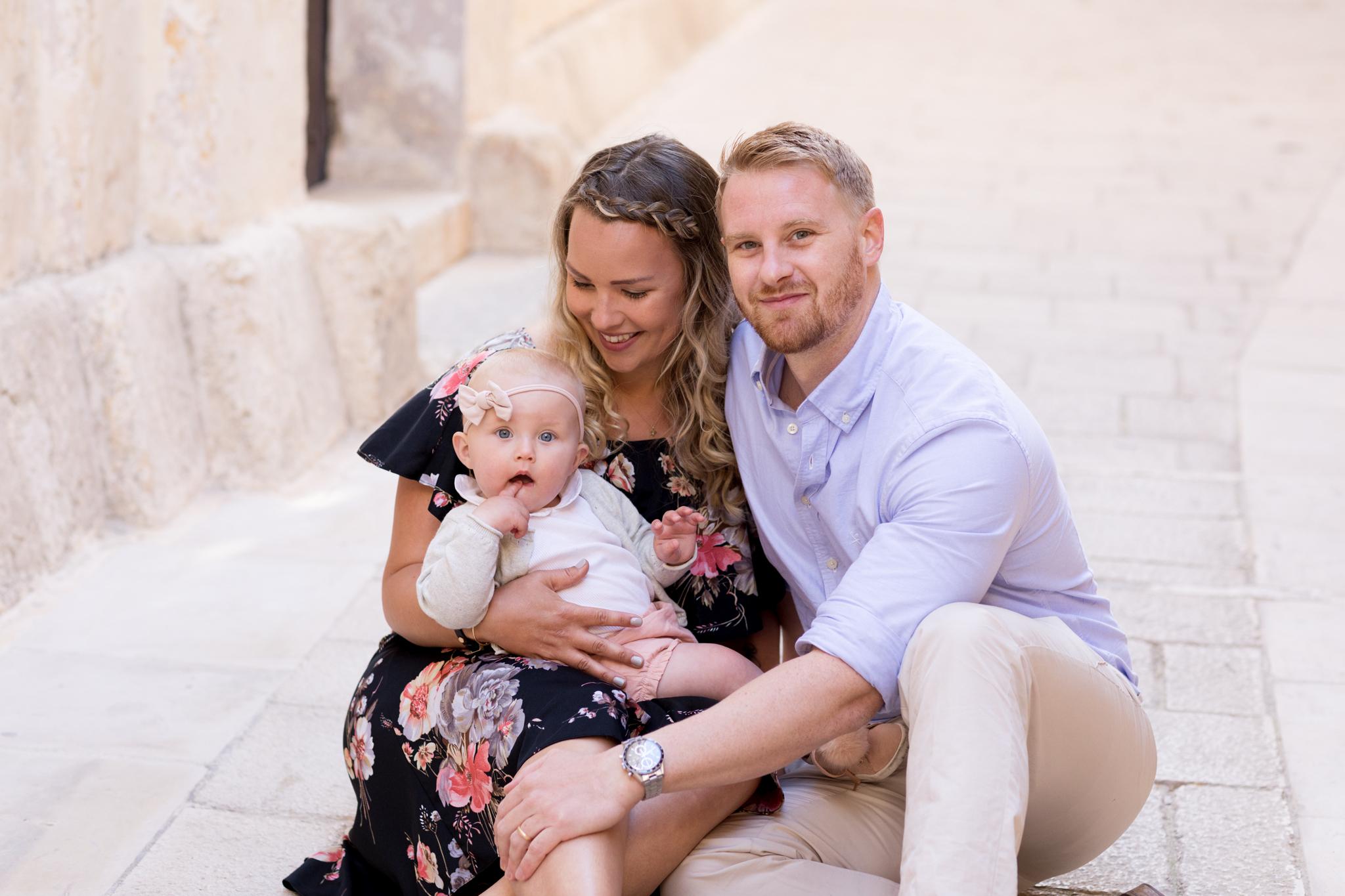 best family photographer in malta, vintage dress, photo shoot, natural light photographer, posing family, sunrise