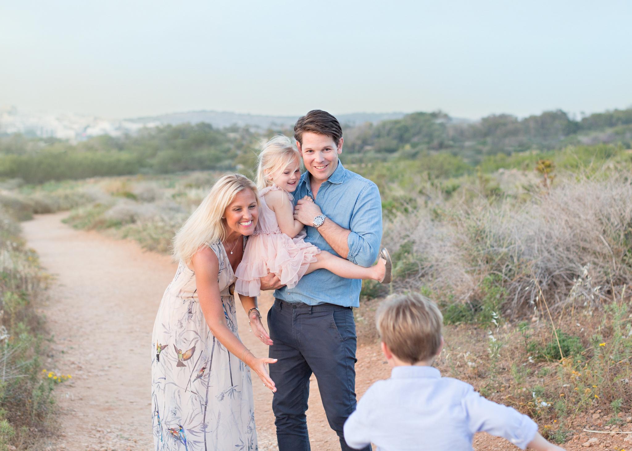 Golden bay malta, family photoshoot malta, mother and son photo, playful, connection, sea, sunset, family photography malta