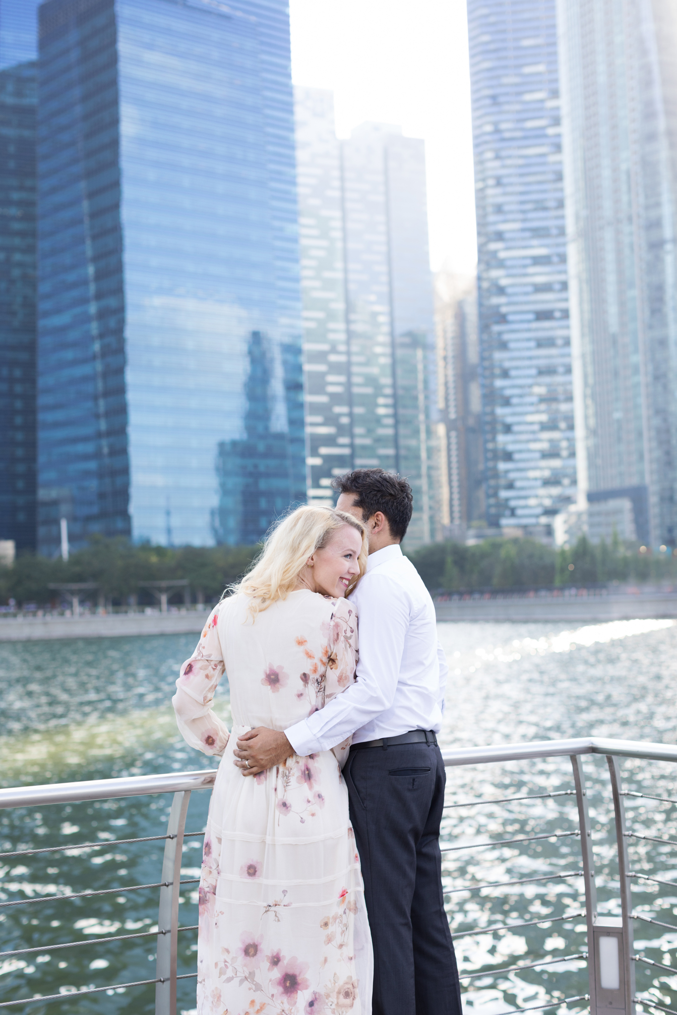 couples in love photoshoot at marina bay sands at sunset gorgeous backlight photo session getting engaged