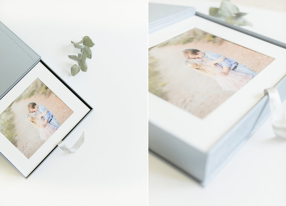 sugarlight photography is offering the highest quality of products folio box containing 10 matted photographs family photographer singapore