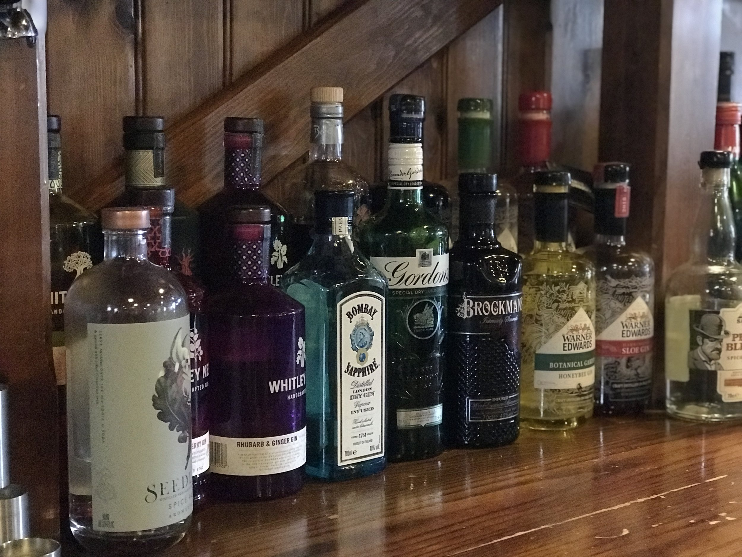 A fine selection of gins