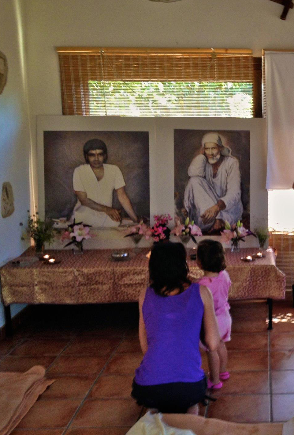 Paintings of Baba and Daddy byAgnieszka Aunty