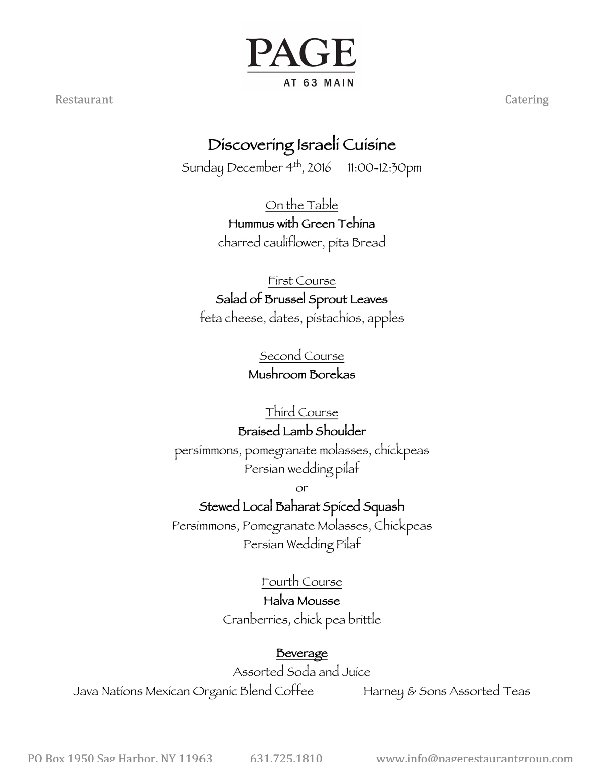 click to see menu
