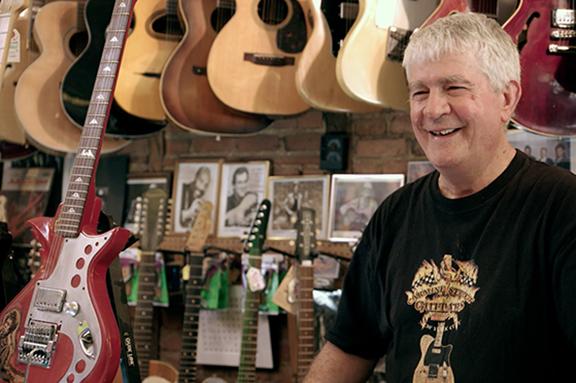 Rick Kelly, from  Carmine Street Guitars