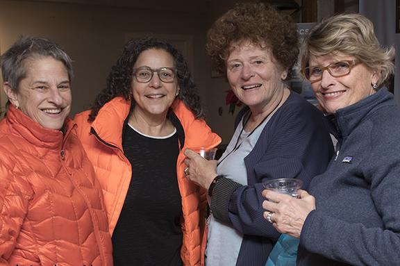 Deborah Kooperstein and Pam Cerutti with festival fans