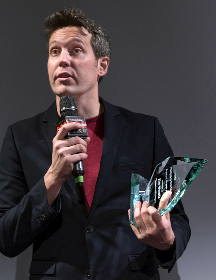 "Breakout Director Award Tim Wardle for ""Three Identical Strangers"""