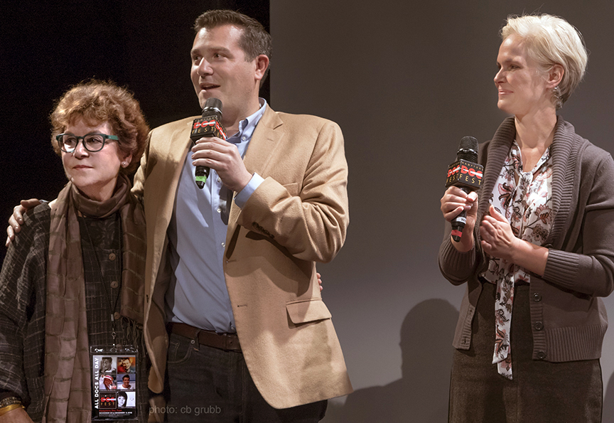 Douglas Elliman team Carl Benincasa and Melody Newberry with Jacqui Lofaro
