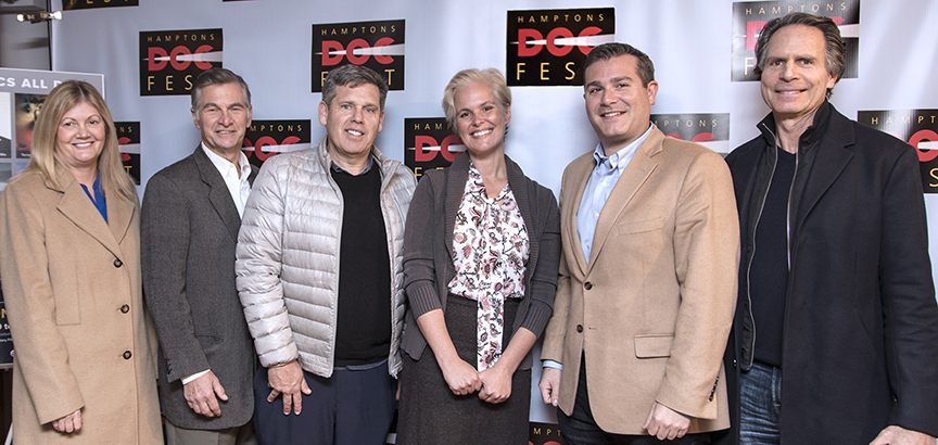 Douglas Elliman team with Melody Newberry and VP Carl Benincasa