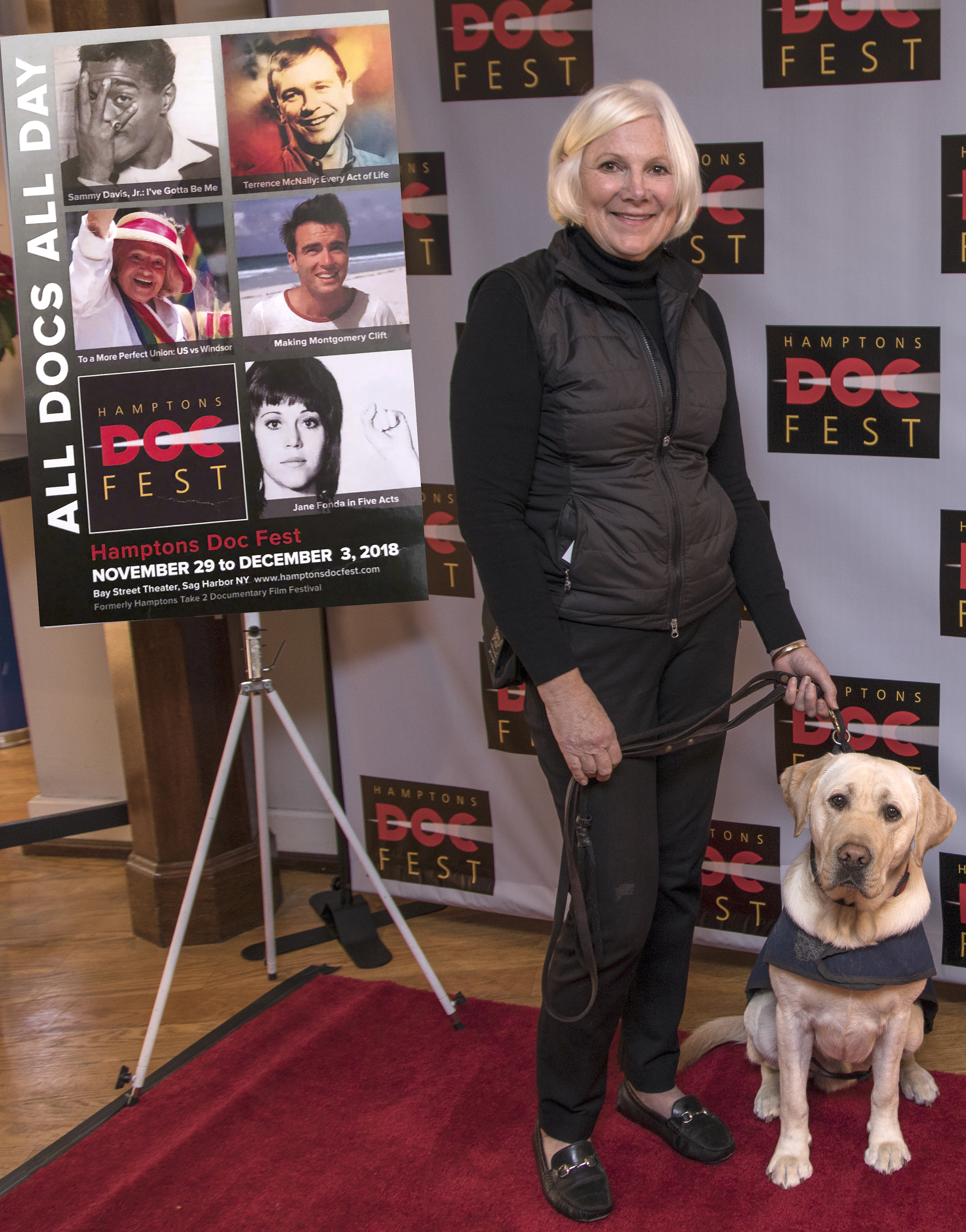 Sally Scranton with Sully after the Q/A for  Pick of the Litter
