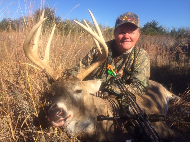 Paul Scored Dandy Whitetail while in Kansas - November 2015