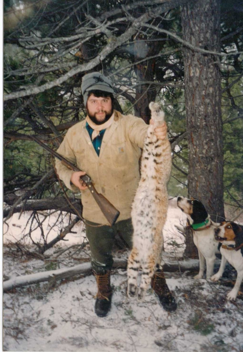 Early Years while running hounds to tree bobcats