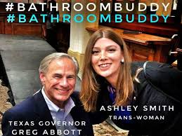 Ashley Smith and her now famous photo with Governor Greg Abbott