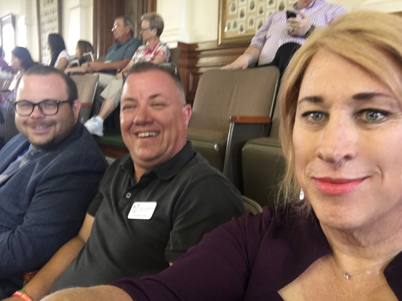 Brad Pritchett, Finnigan Jones and I sit in on the Senate