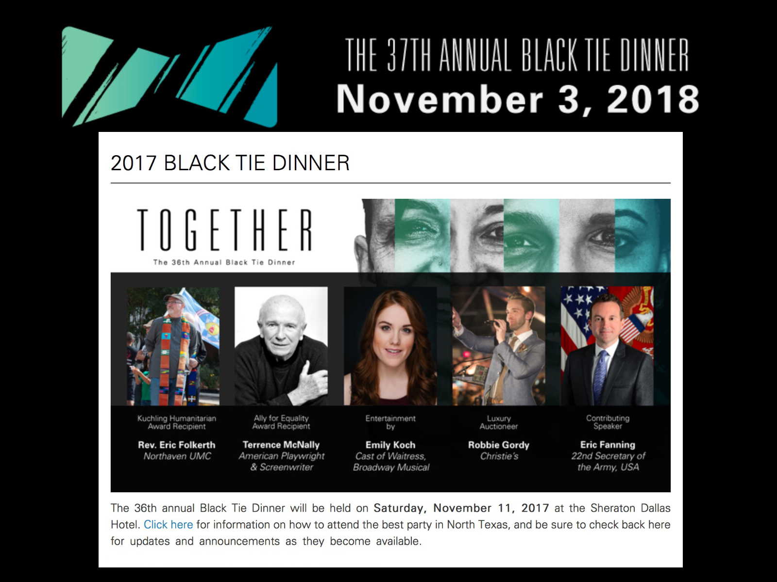 2017 Black Tie Dinner fund raiser