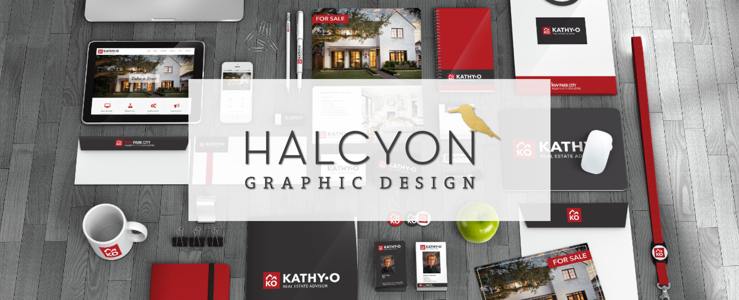 Halcyon Graphic Design is full-service design firm, offering services from       branding all the way to the finish of marketing materials, websites, and signage.